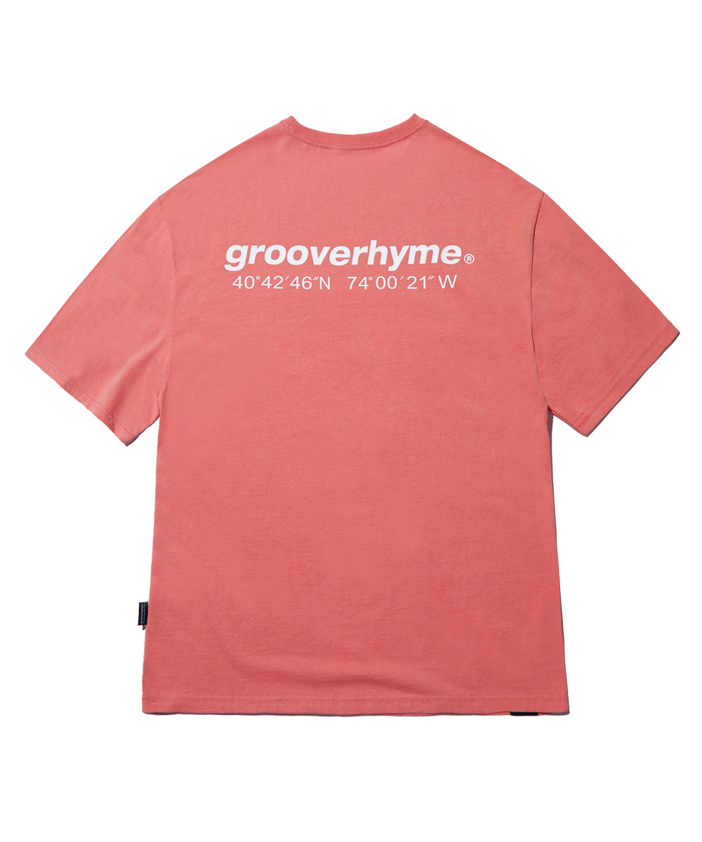 NYC LOCATION T-SHIRT (DARK PINK) [GTS721I23DP]