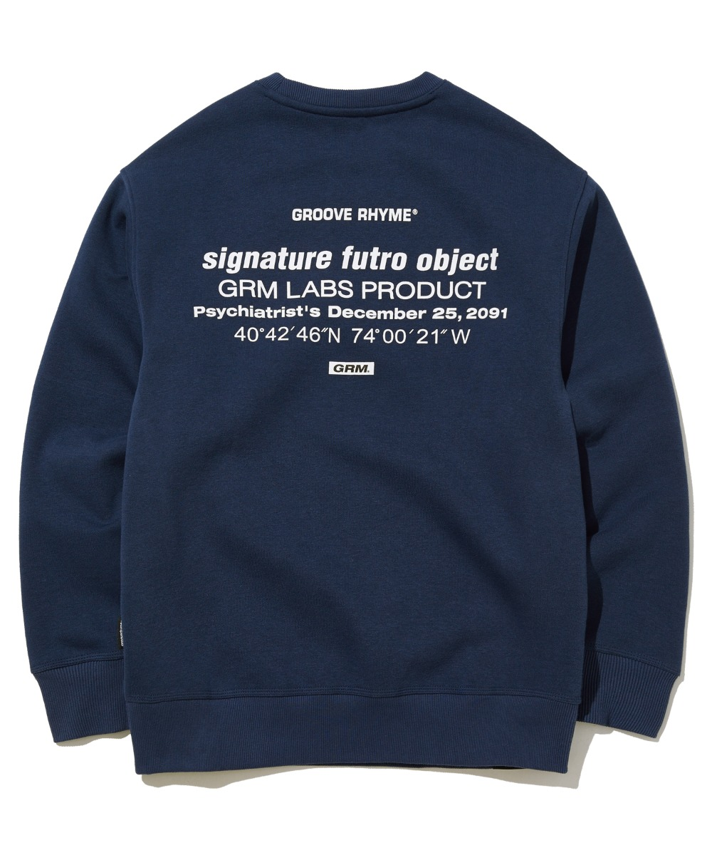 TRANSFORMED LOCATION LOGO SWEAT SHIRTS (NAVY) [GMT505H43NAA]