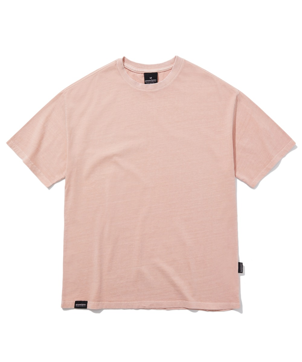 BASIC PIGMENT OVER FIT T-SHIRTS (PINK) [GTS764I23PI]