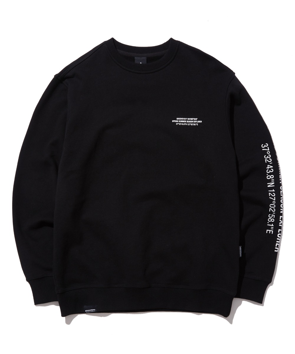 MATRIX LOCATION SWEAT SHIRTS (BLACK) [GMT522I13BK]