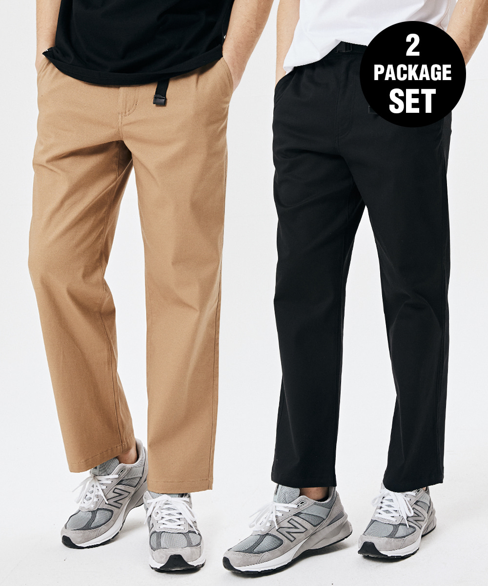 [1+1] BUCKLE CHINO BANDING PANTS 3COLOR [GPT921I13]