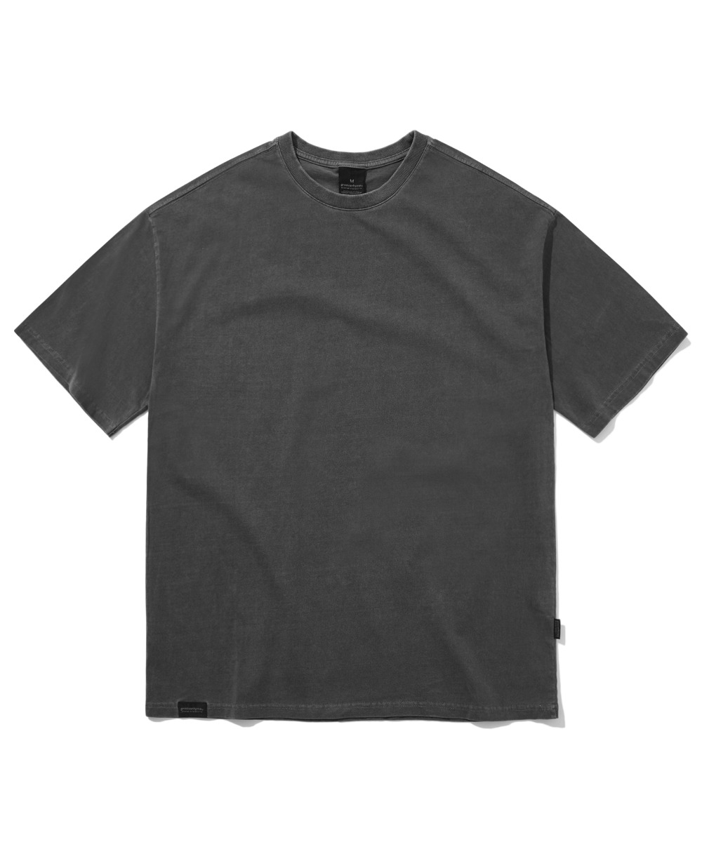 BASIC PIGMENT OVER FIT T-SHIRTS (CHARCOAL) [GTS764I23CH]