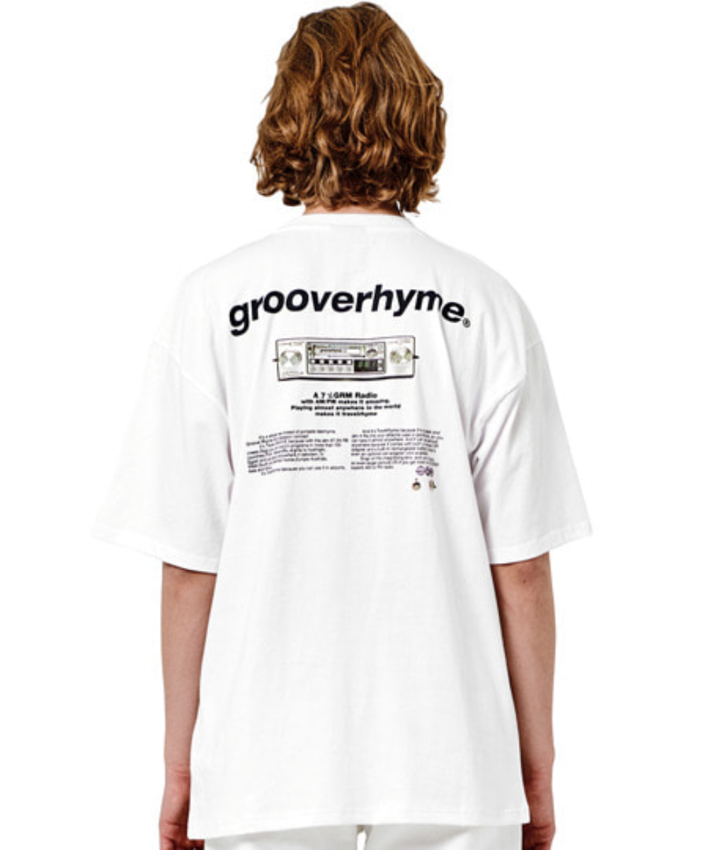 RADIO PRINT OVER FIT T-SHIRTS (WHITE) [GTS010H23WO]