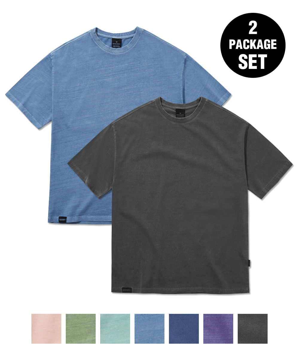 [1+1] BASIC PIGMENT OVER FIT T-SHIRTS (7 COLORS) [GTS764I23]