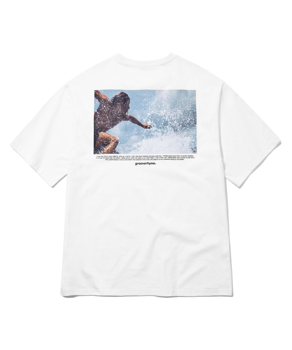 SURF RIDING T-SHIRTS (WHITE) [GTS734I23WH]