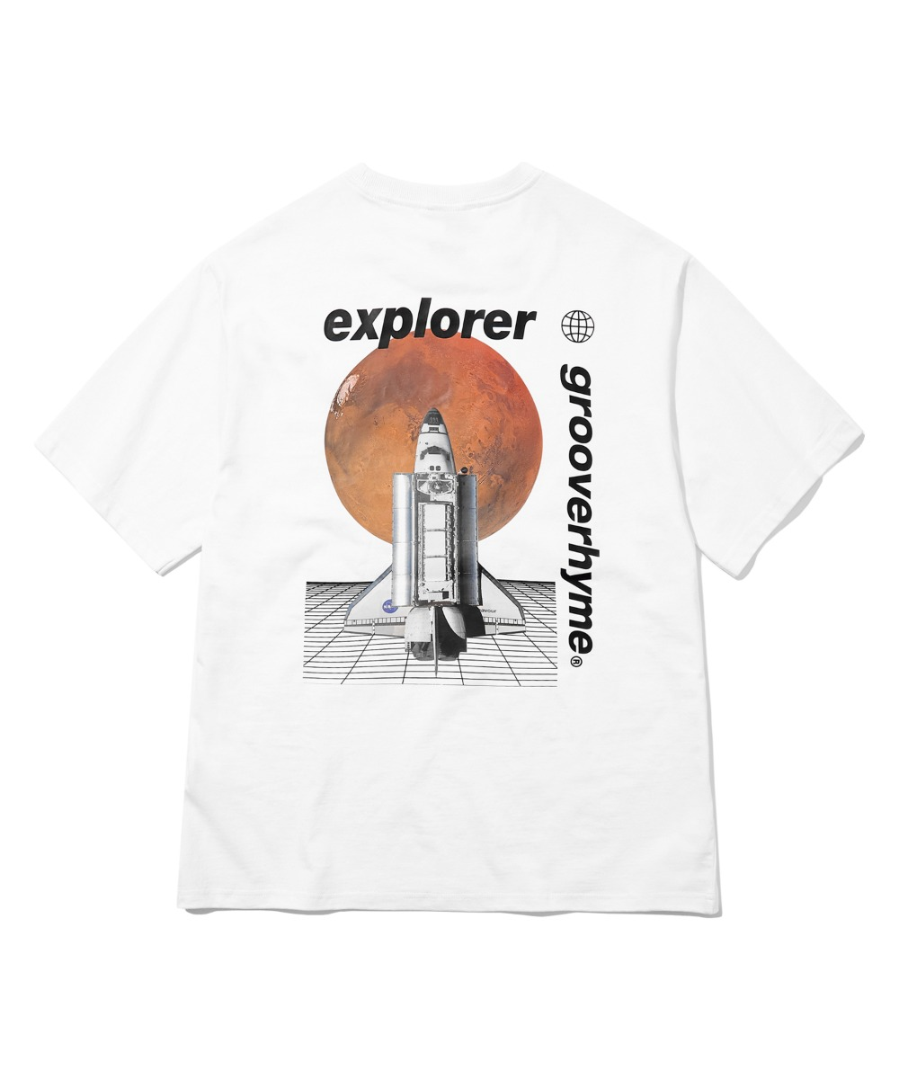 SPACE SHUTTLE PRINT T-SHIRTS (WHITE) [GTS731I23WH]