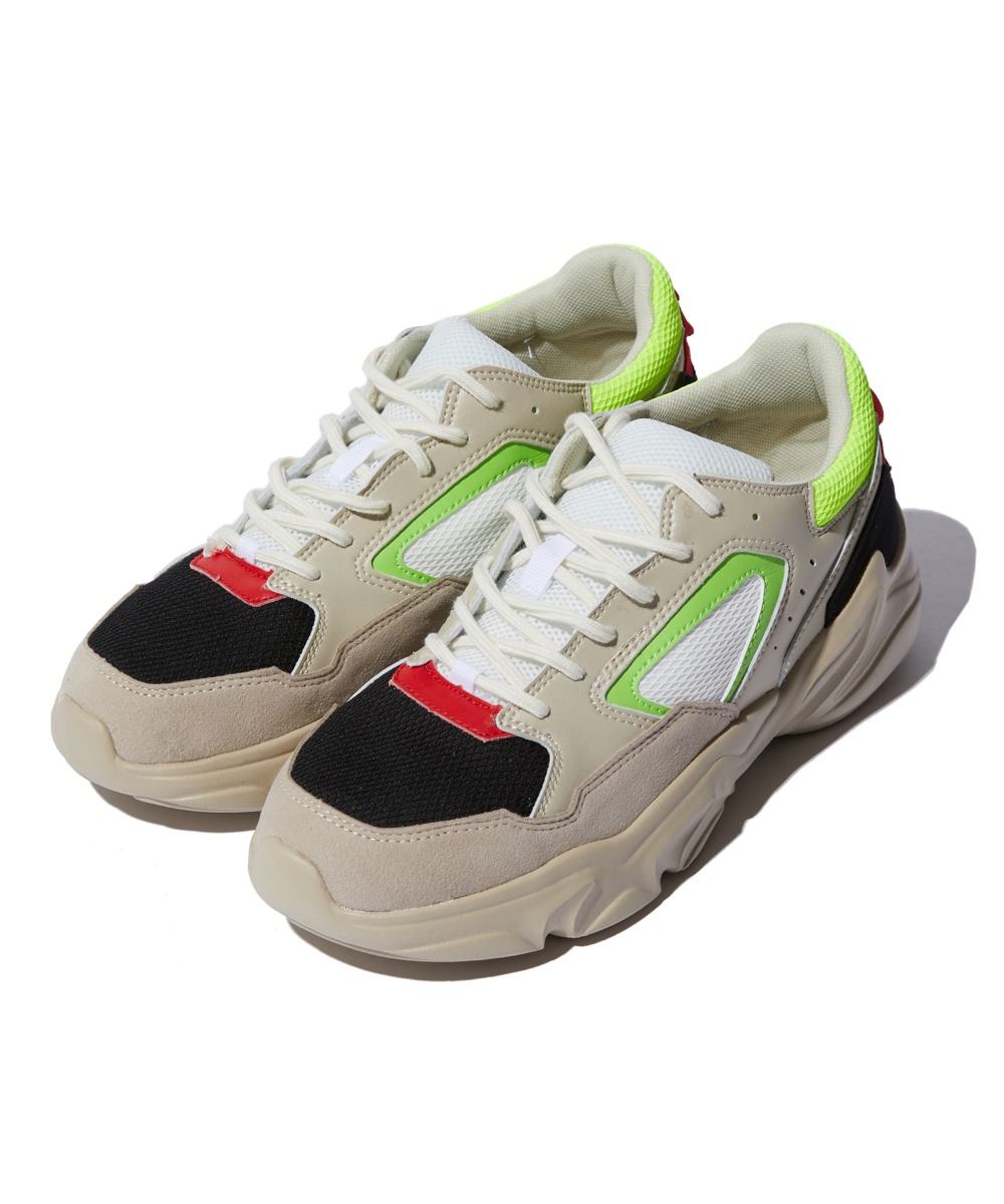 MULTI COLOR SNEAKERS (BEIGE) [GSN002I53BE]
