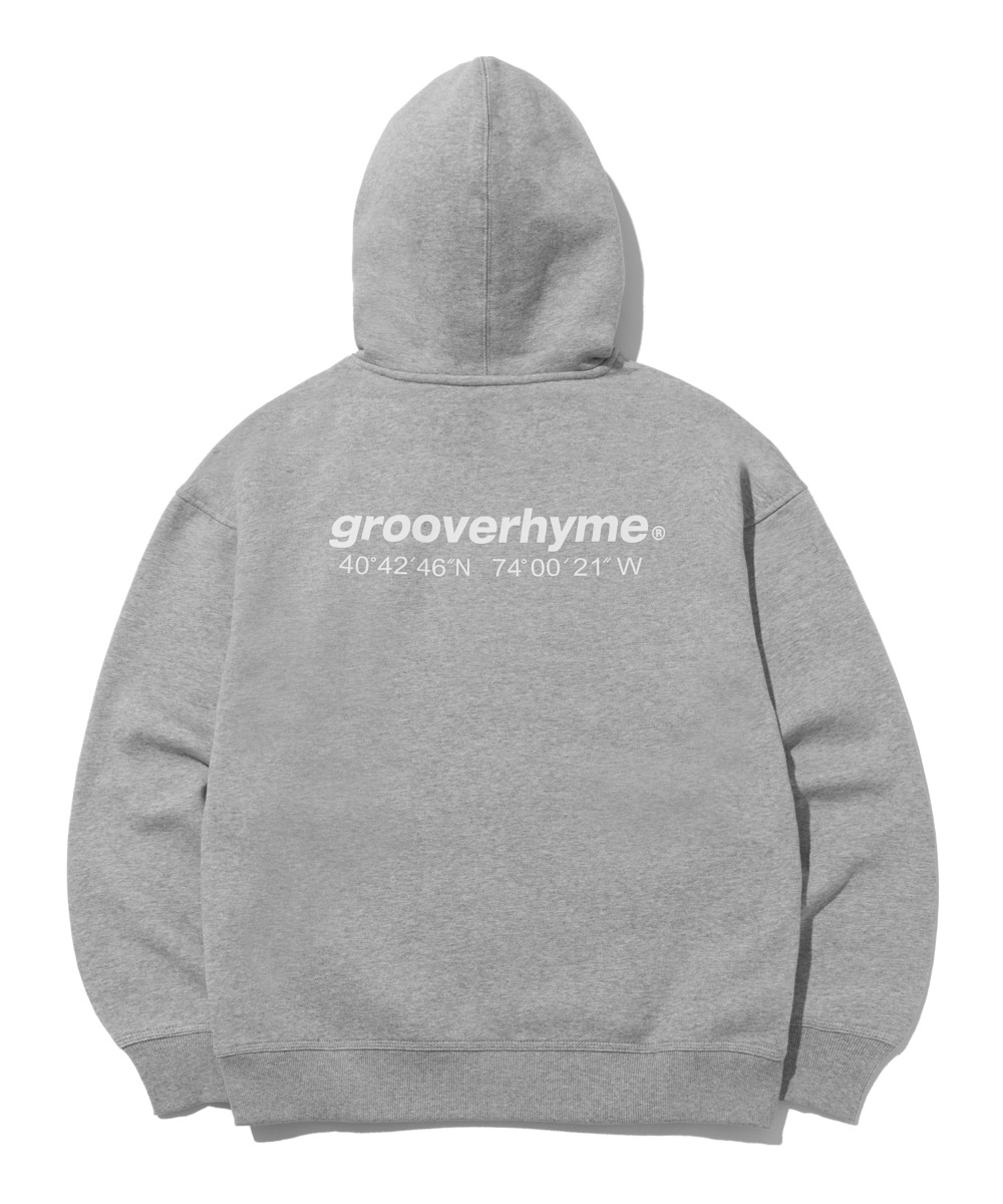 NYC LOCATION HOODIE (MELANGE GREY) [LROWCTH731MGYM]