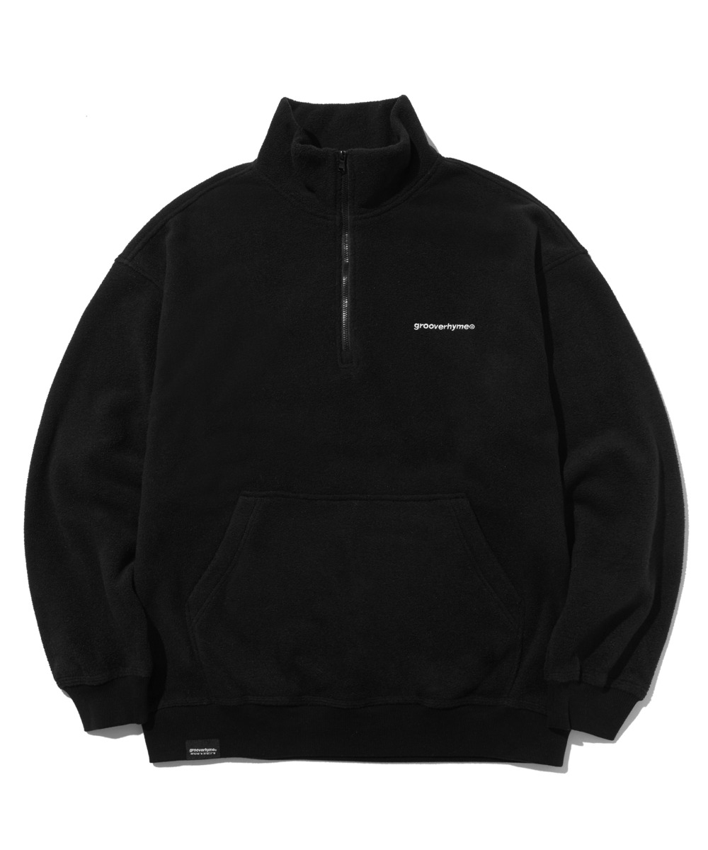 COMFORTABLE HALF ZIP-UP FLEECE (BLACK) [LROWCFN781MBKA]