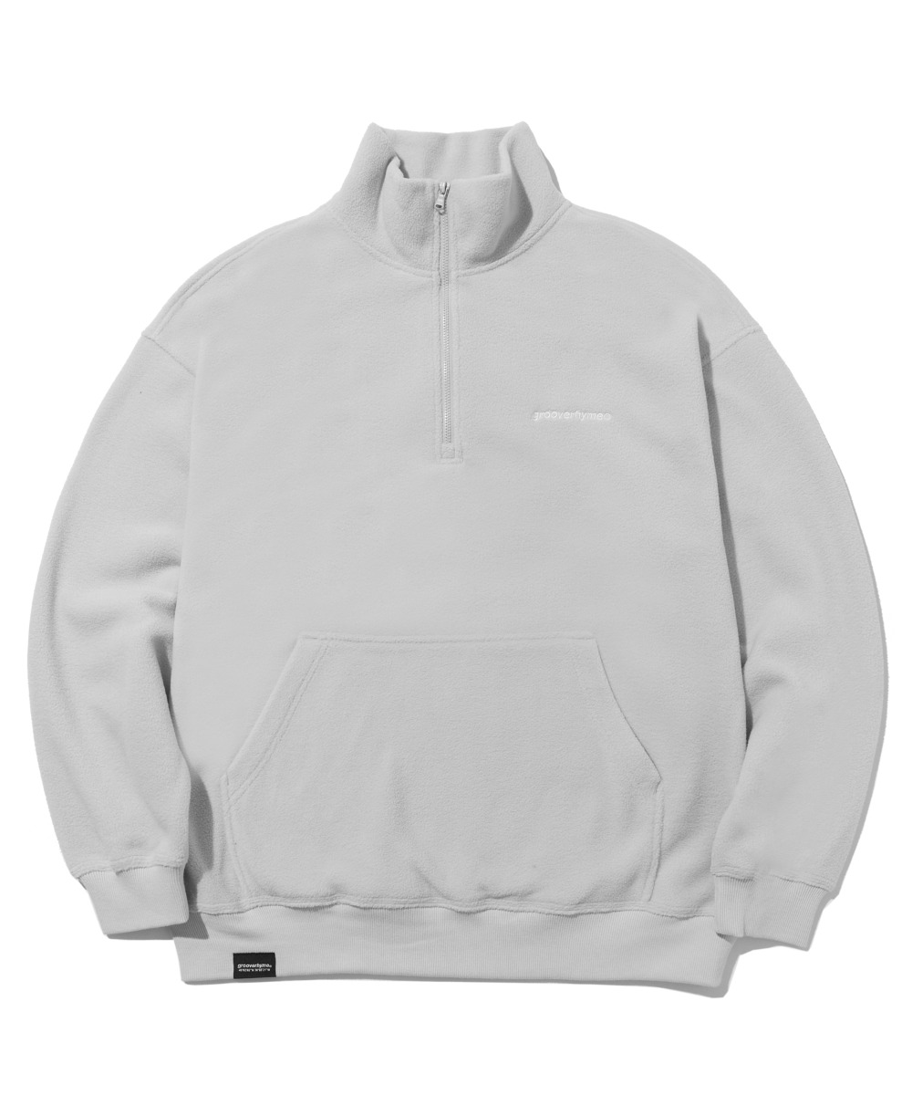 COMFORTABLE HALF ZIP-UP FLEECE (LIGHT GREY) [LROWCFN781MGYL]