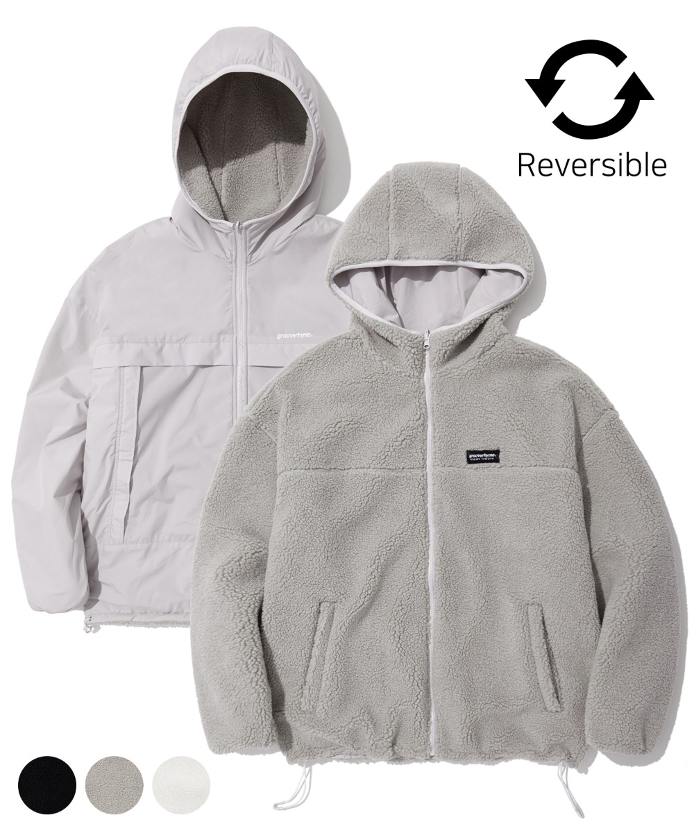REVERSIBLE BOA HOOD JUMPER (3color) [LROWCFU783M]
