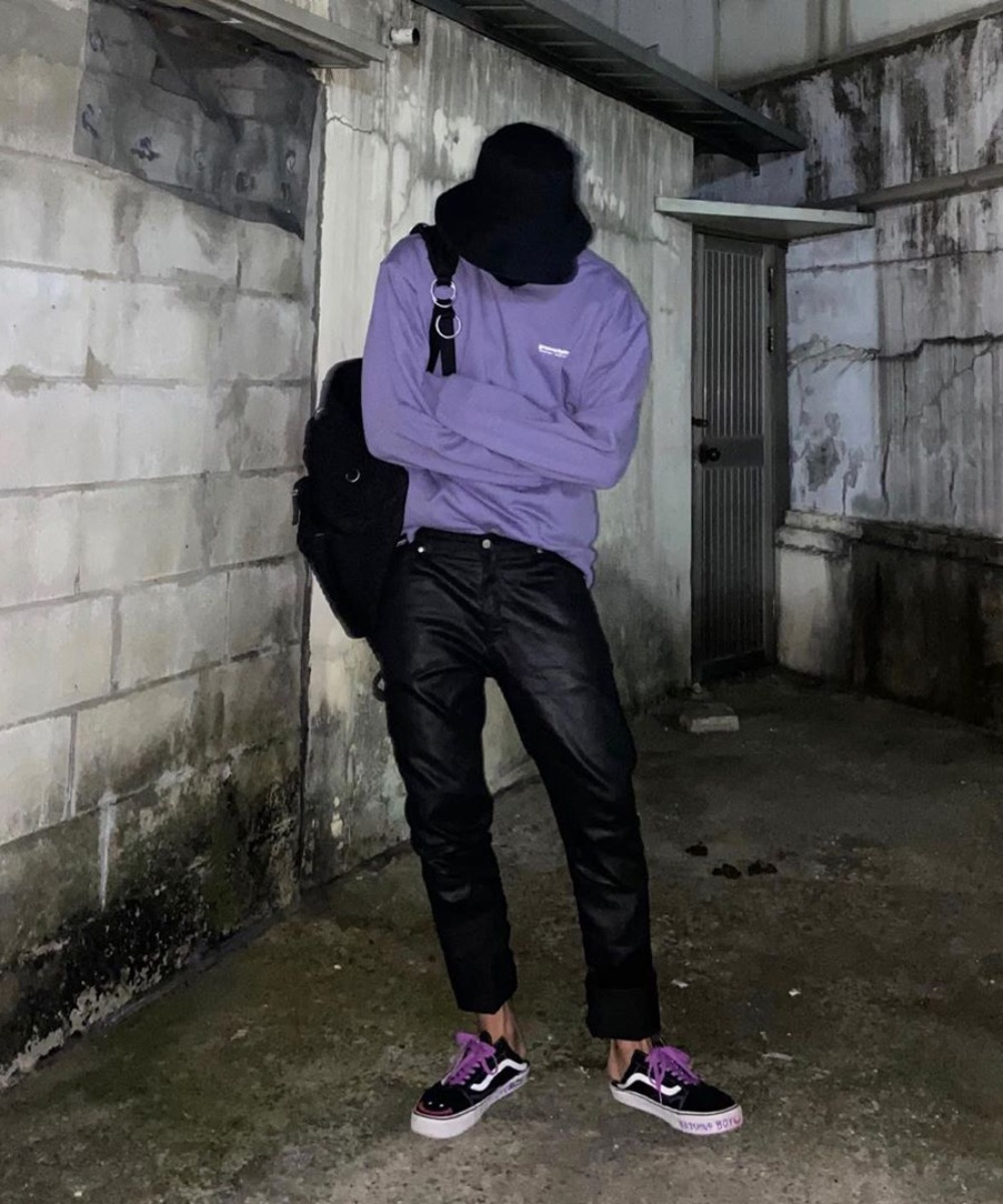 NYC Location Sweat Shirts (Purple)