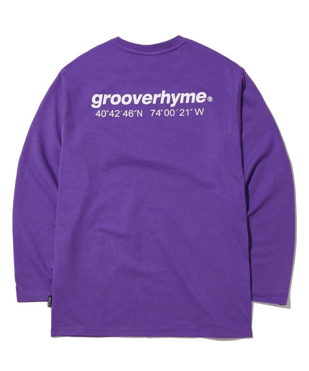 NYC LOCATION LONG SLEEVE T-SHIRTS (VIOLET) [GLT601H33VI]