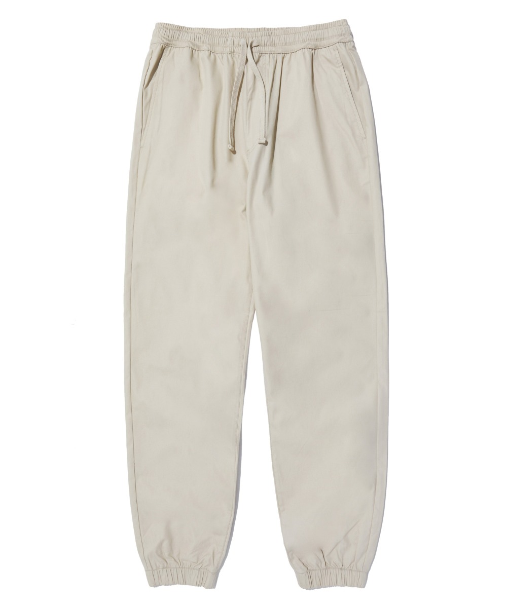 COMFORTABLE TAPERED JOGGER PANTS (BEIGE) [LRPSCPJ711MBEA]