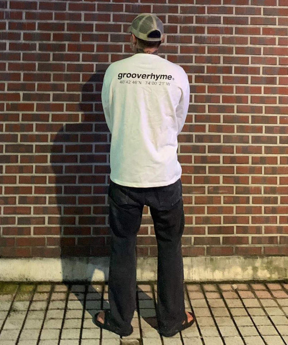NYC Location Long Sleeve T-shirts (White)