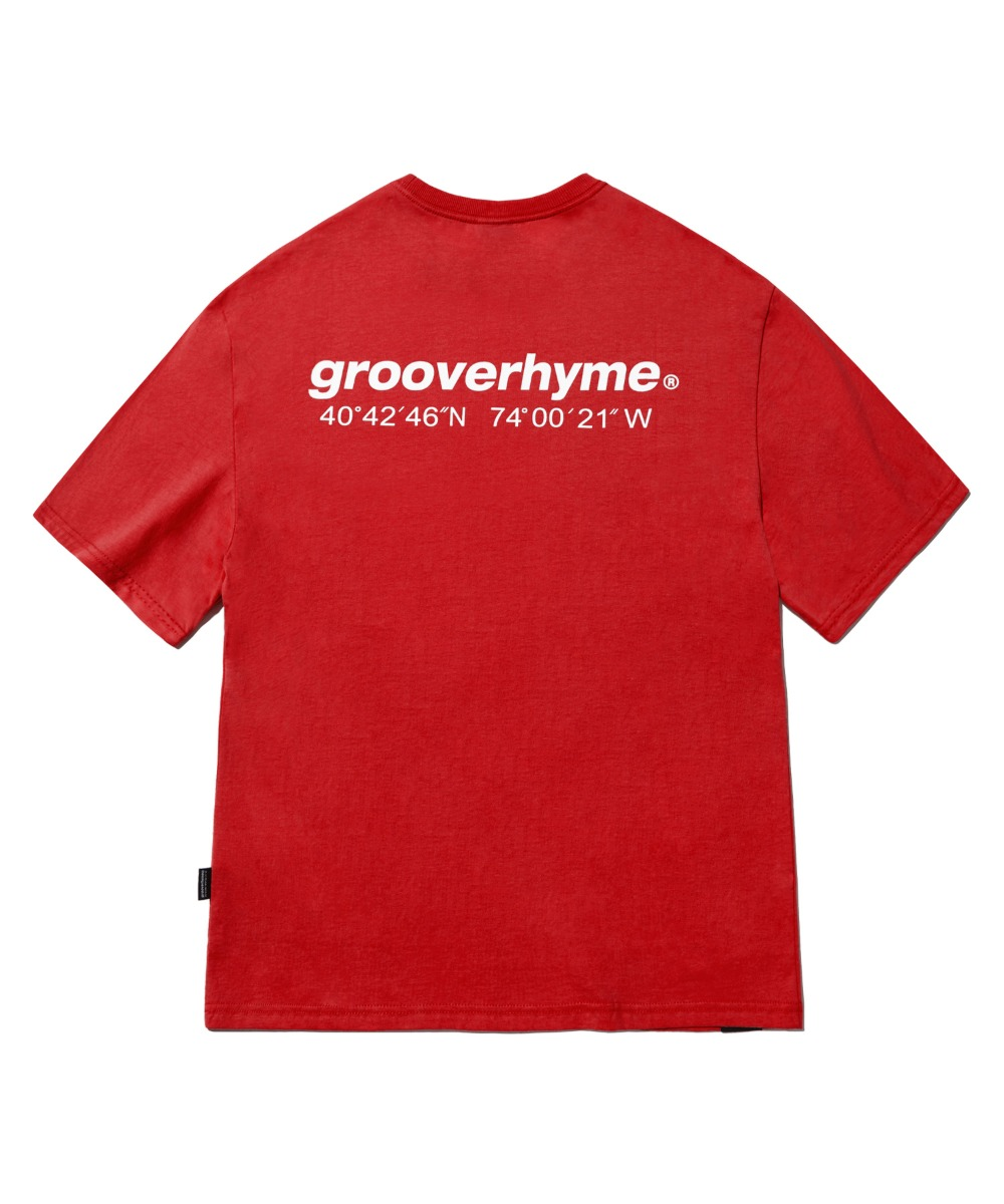 NYC LOCATION T-SHIRT (RED) [LRPMCTA401MRDA]