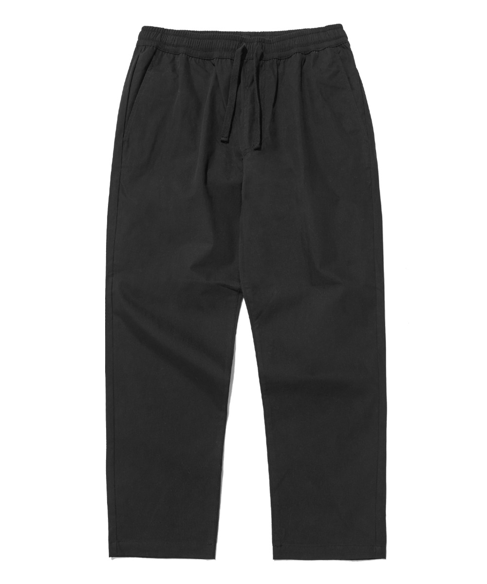 COMFORTABLE TAPERED CROP PANTS (BLACK) [LRPSCPA712MBKA]