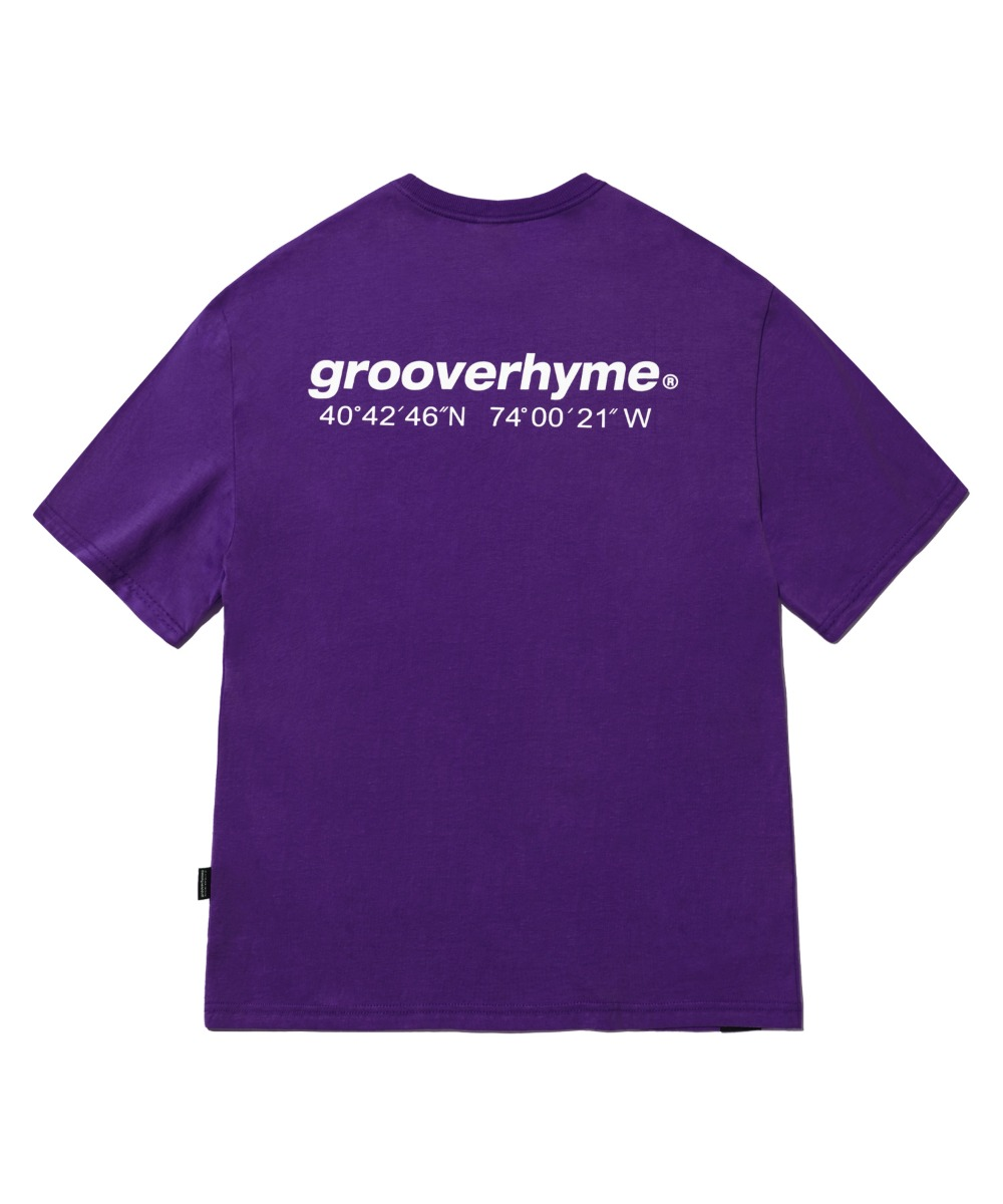 NYC LOCATION T-SHIRT (DARK PURPLE) [LRPMCTA401MPPD]