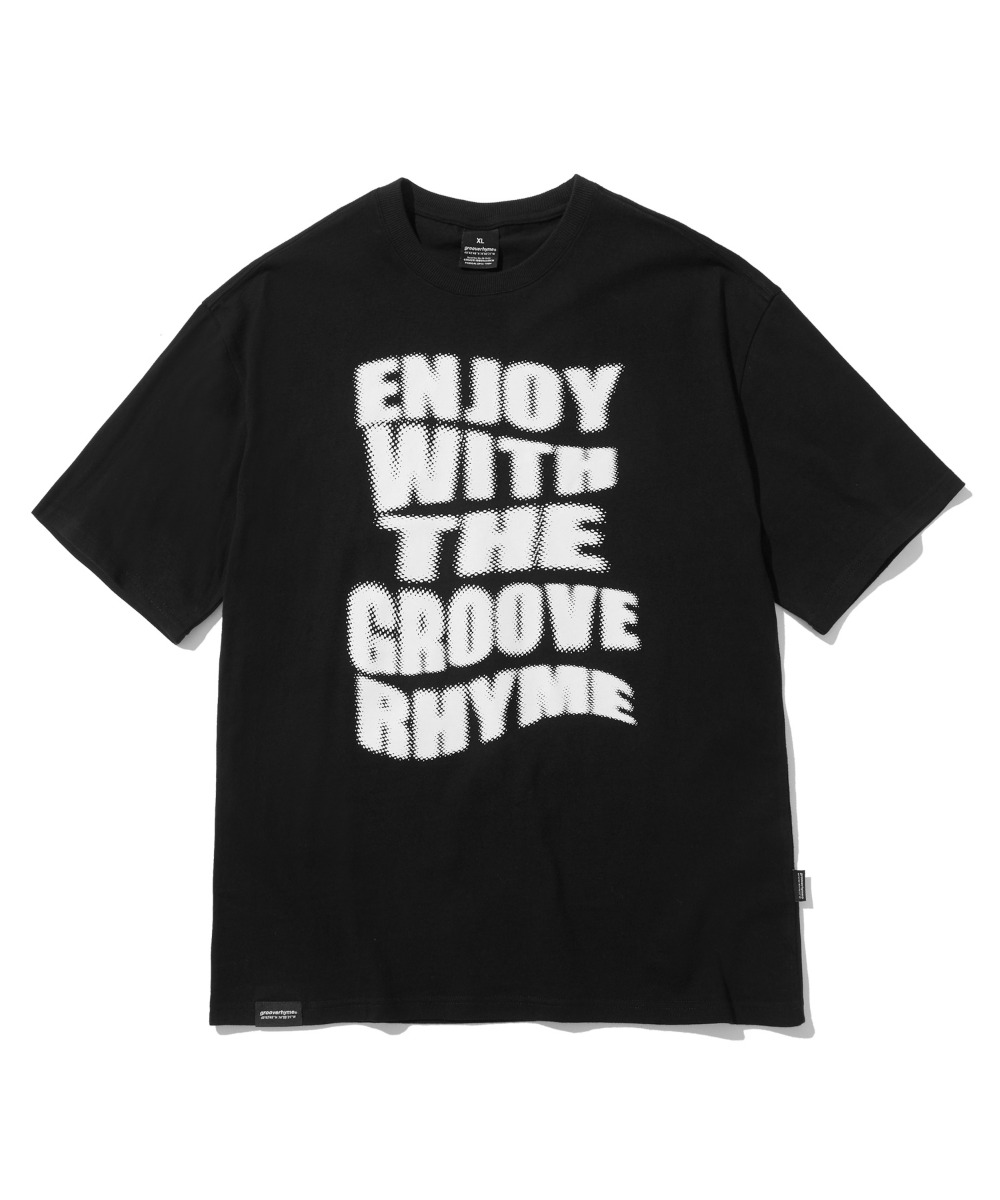 ENJOY GROOVE T-SHIRTS (BLACK) [LRPMCTA437MBKA]
