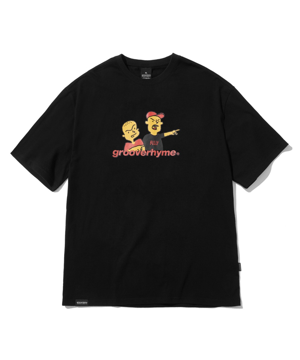 BULLY BROTHERS T-SHIRTS (BLACK) [LRPMCTA421MBKA]