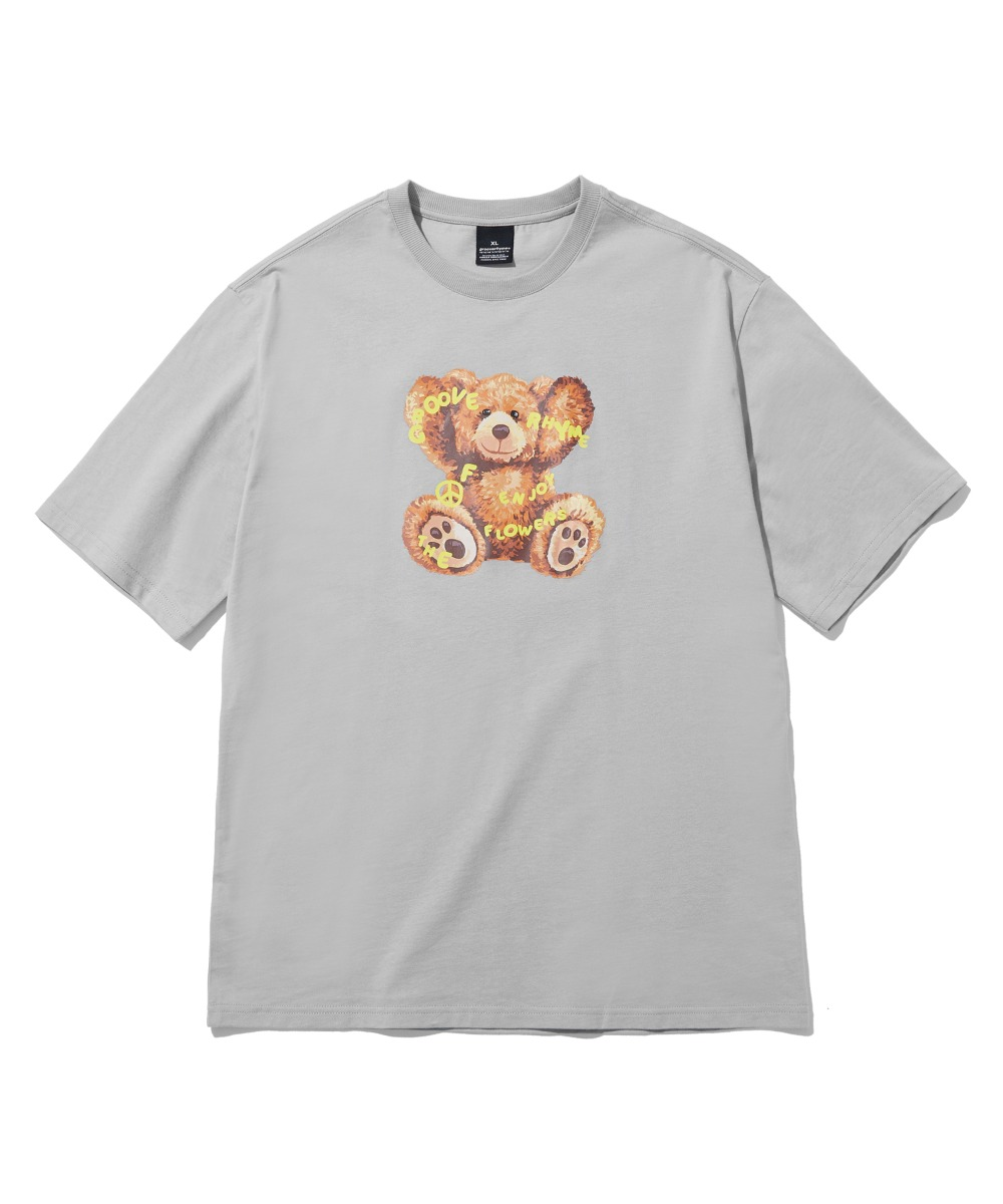 NOMAD BEAR T-SHIRTS(LIGHT GREY) [LRPMCTA426MGYL]