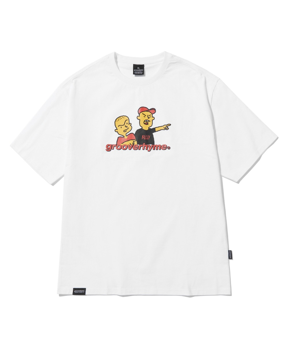 BULLY BROTHERS T-SHIRTS (WHITE) [LRPMCTA421MWHA]