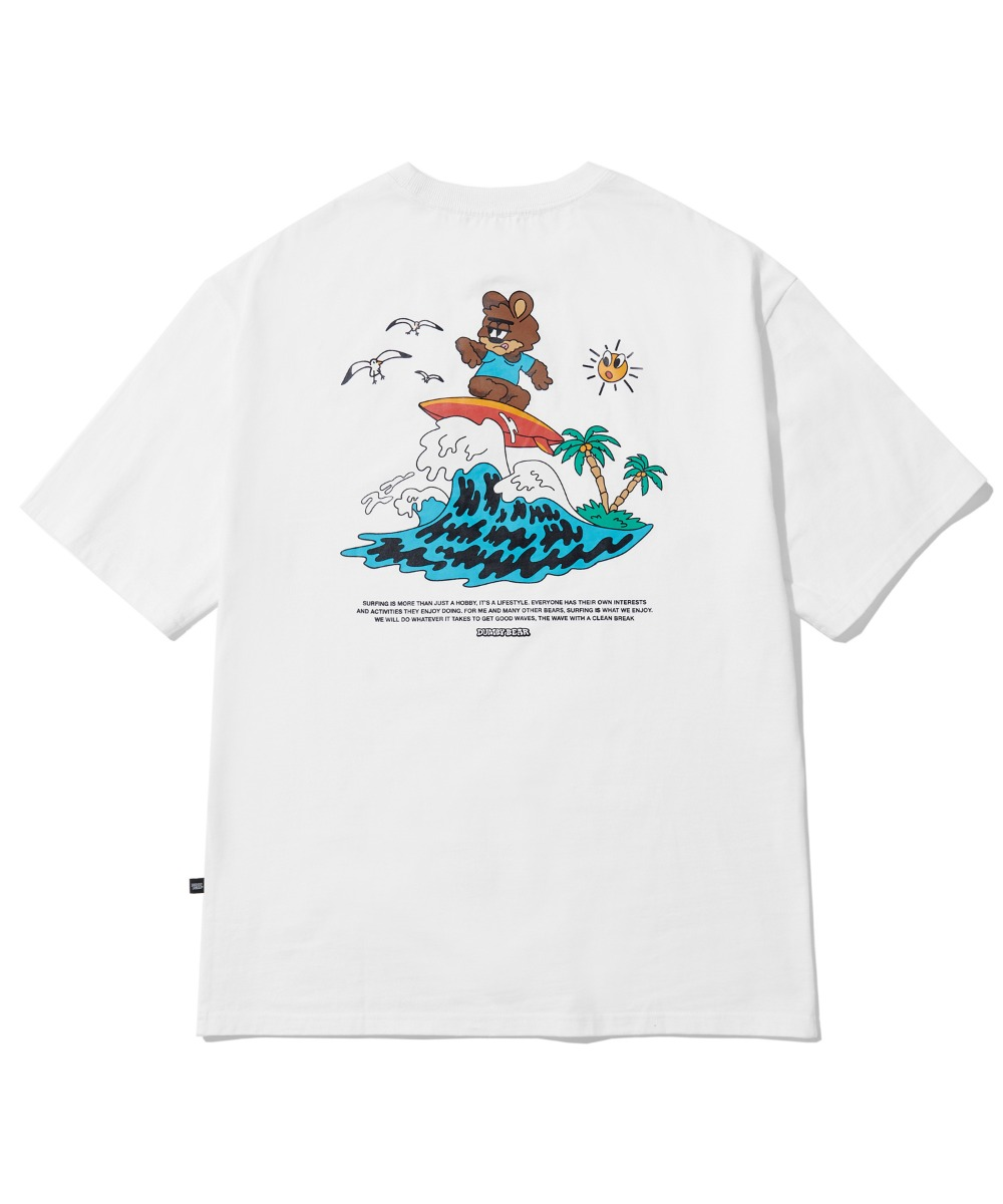 SURFING DUMBY T-SHIRT (WHITE) [LBPMCTA457MWHA]