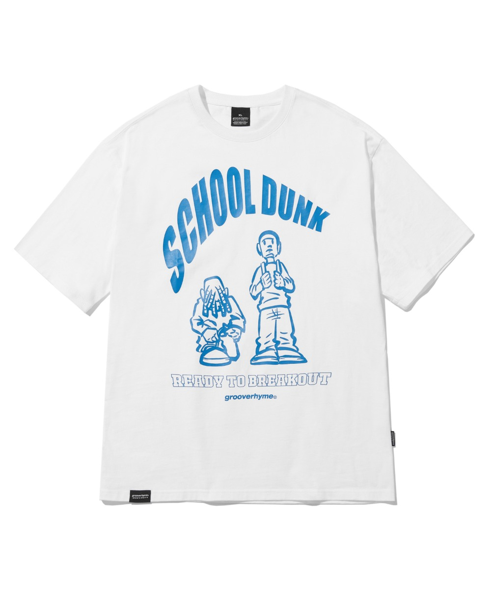 SCHOOL DUNK T-SHIRTS (WHITE) [LRPMCTA432MWHA]