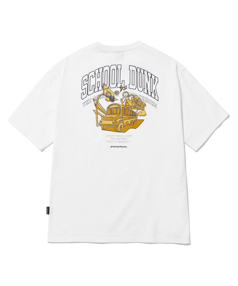 SCHOOL BUS T-SHIRTS(WHITE) [LRPMCTA443MWHA]