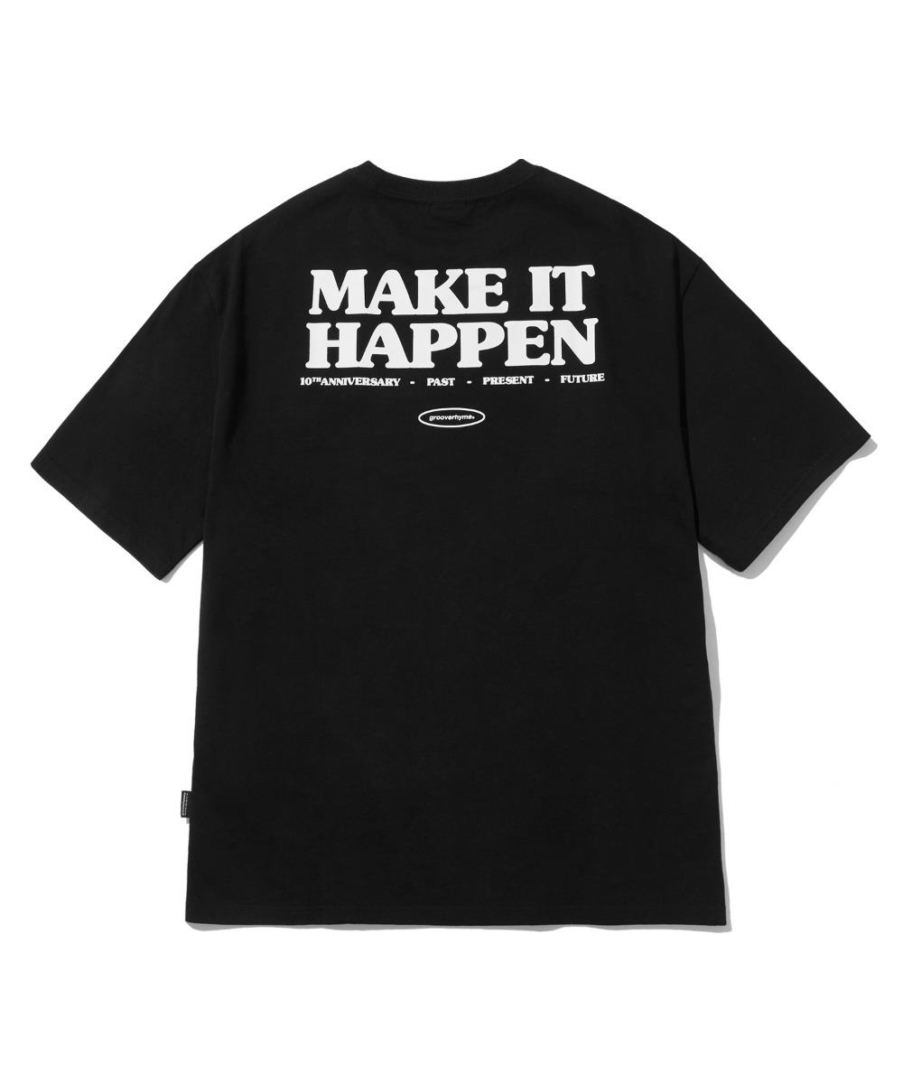 MAKE IT HAPPEN T-SHIRTS (BLACK) [LRPMCTA441MBKA]
