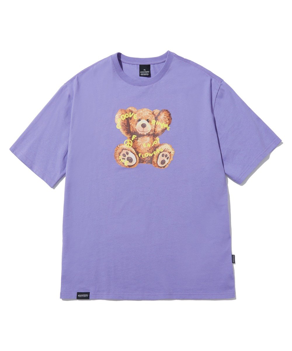 NOMAD BEAR T-SHIRTS(PURPLE) [LRPMCTA426MPPA]