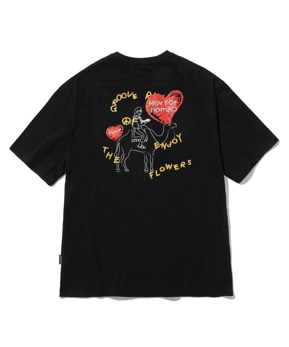 HEART OF NOMAD T-SHIRTS(BLACK) [LRPMCTA429MBKA]