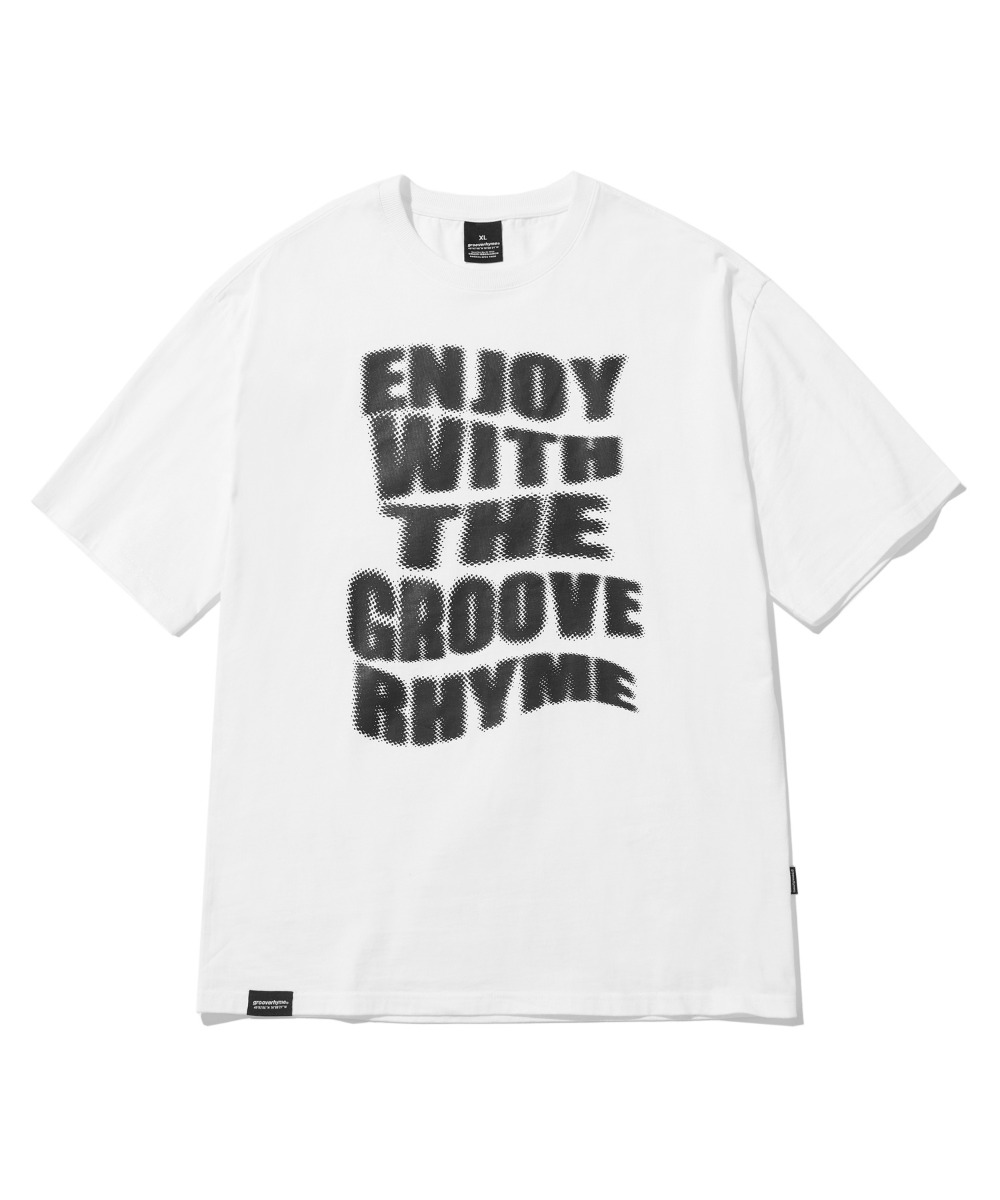 ENJOY GROOVE T-SHIRTS (WHITE) [LRPMCTA437MWHA]