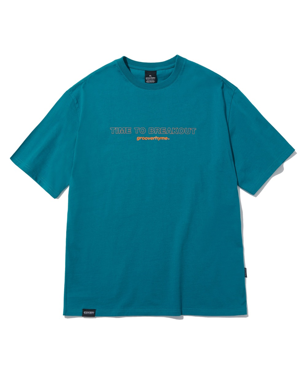 TIME TO BREAKOUT T-SHIRTS (BLUE GREEN) [LRPMCTA435MGRB]