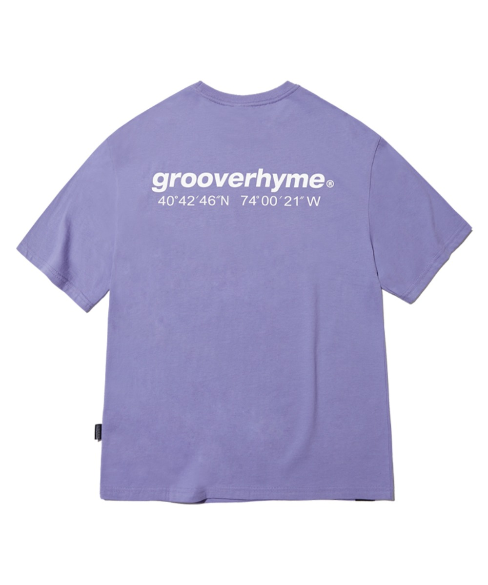 NYC LOCATION T-SHIRT (PURPLE) [GTS721I23PU]