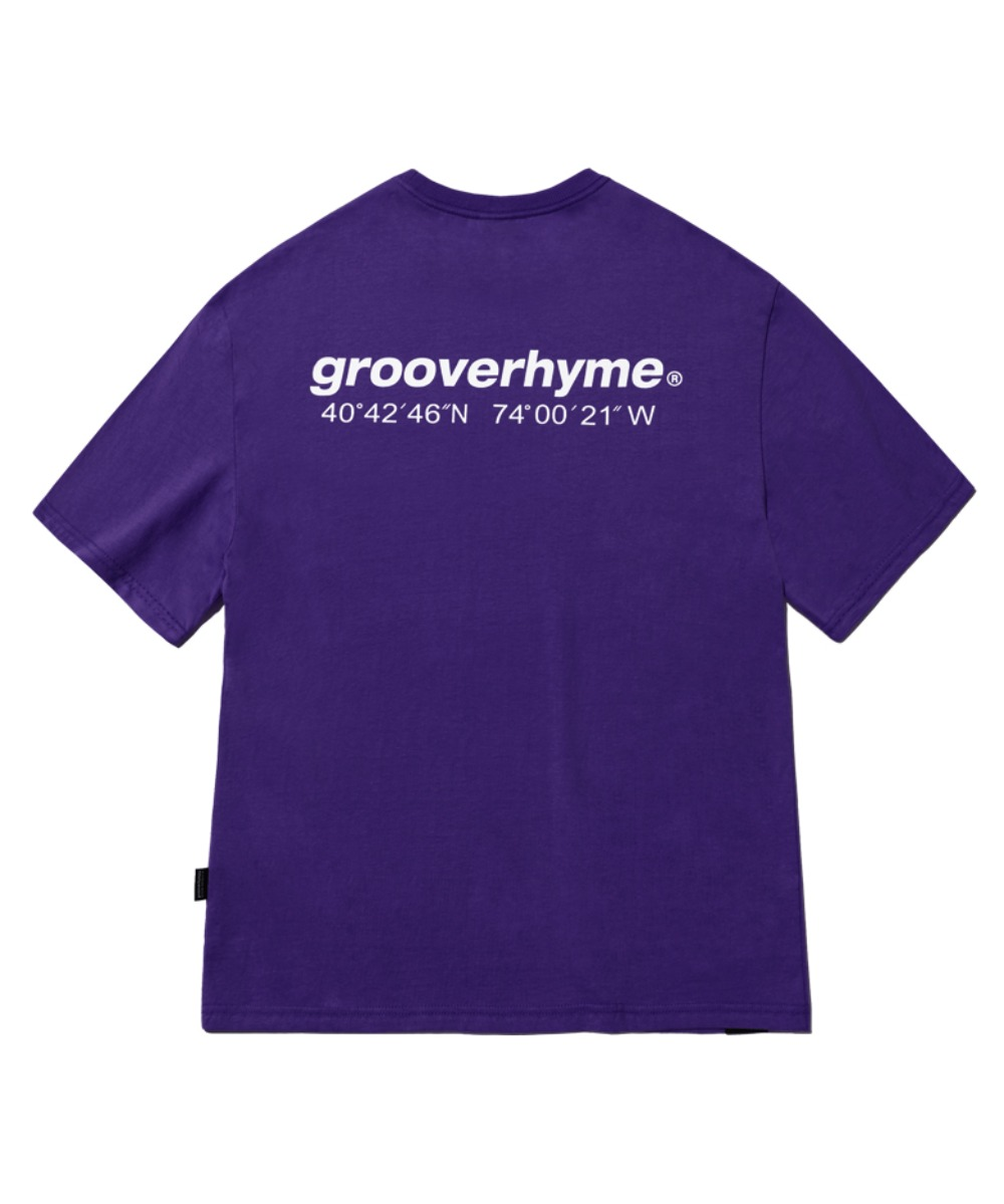 NYC LOCATION T-SHIRT (DARK PURPLE) [GTS721I23DU]