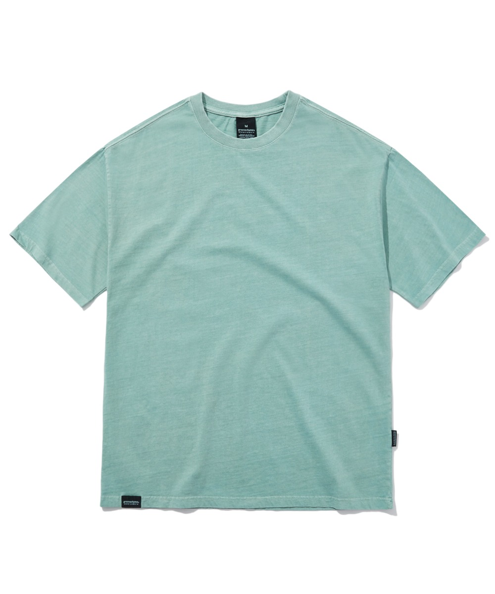 BASIC PIGMENT OVER FIT T-SHIRTS (MINT) [GTS764I23MI]