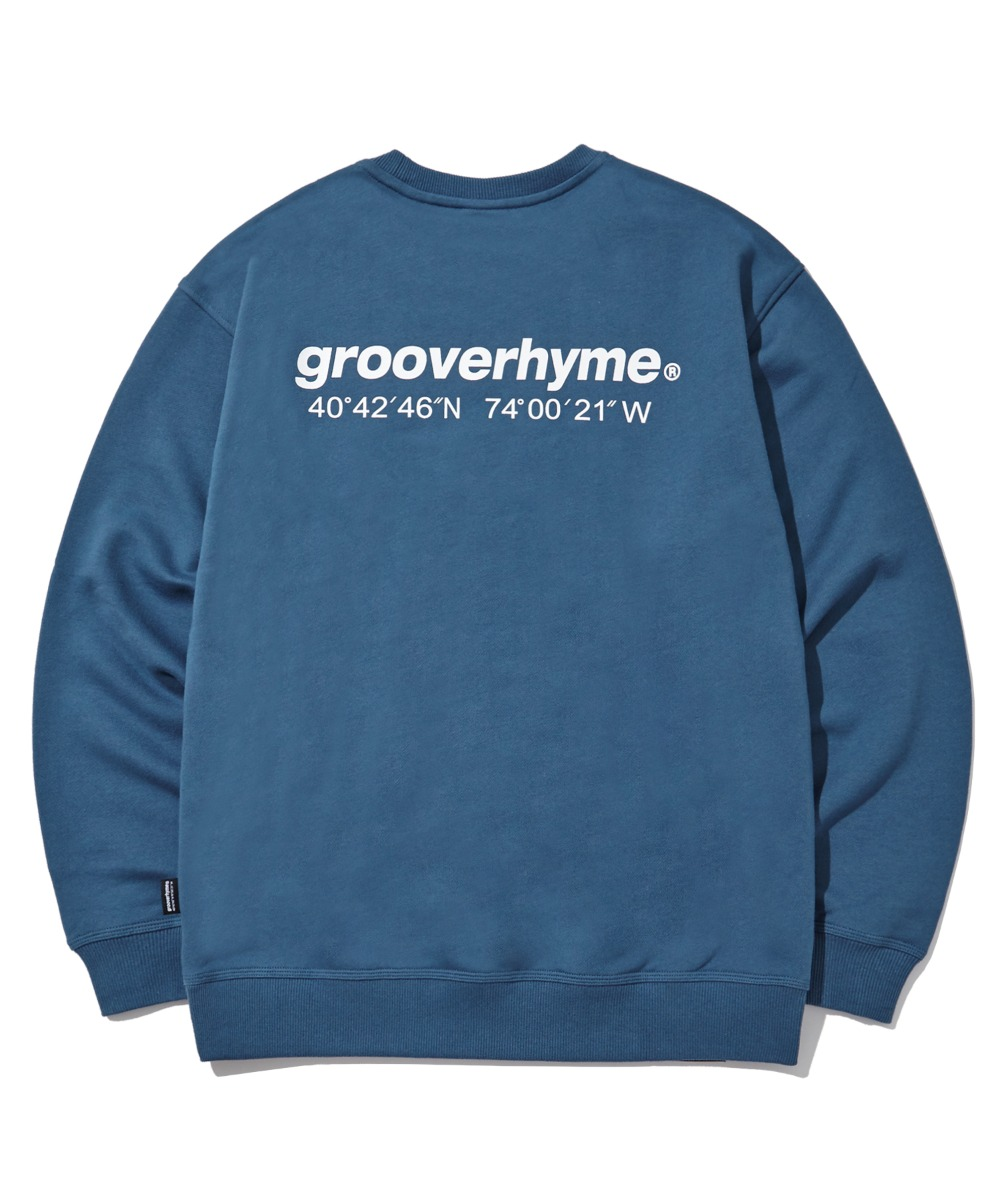 (기모) NYC LOCATION SWEAT SHIRTS (LIGHT NAVY) [LROWCTM712MNAL]
