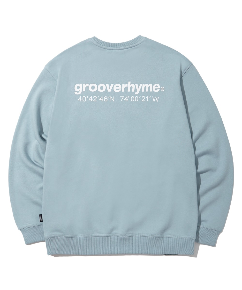 (기모) NYC LOCATION SWEAT SHIRTS (LIGHT BLUE) [LROWCTM712MBLL]