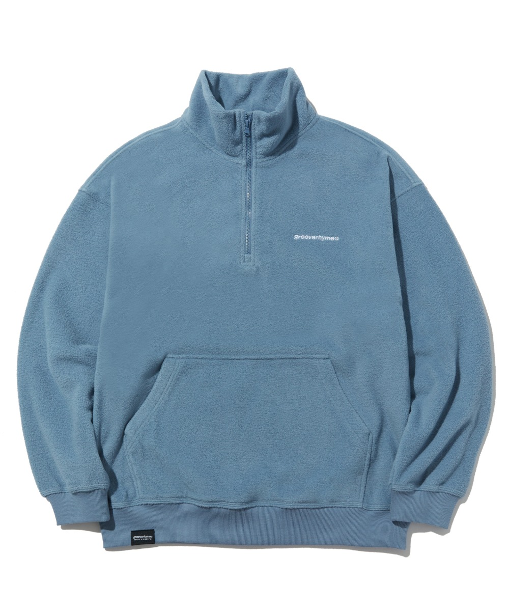 COMFORTABLE HALF ZIP-UP FLEECE (BLUE) [LROWCFN781MBLA]