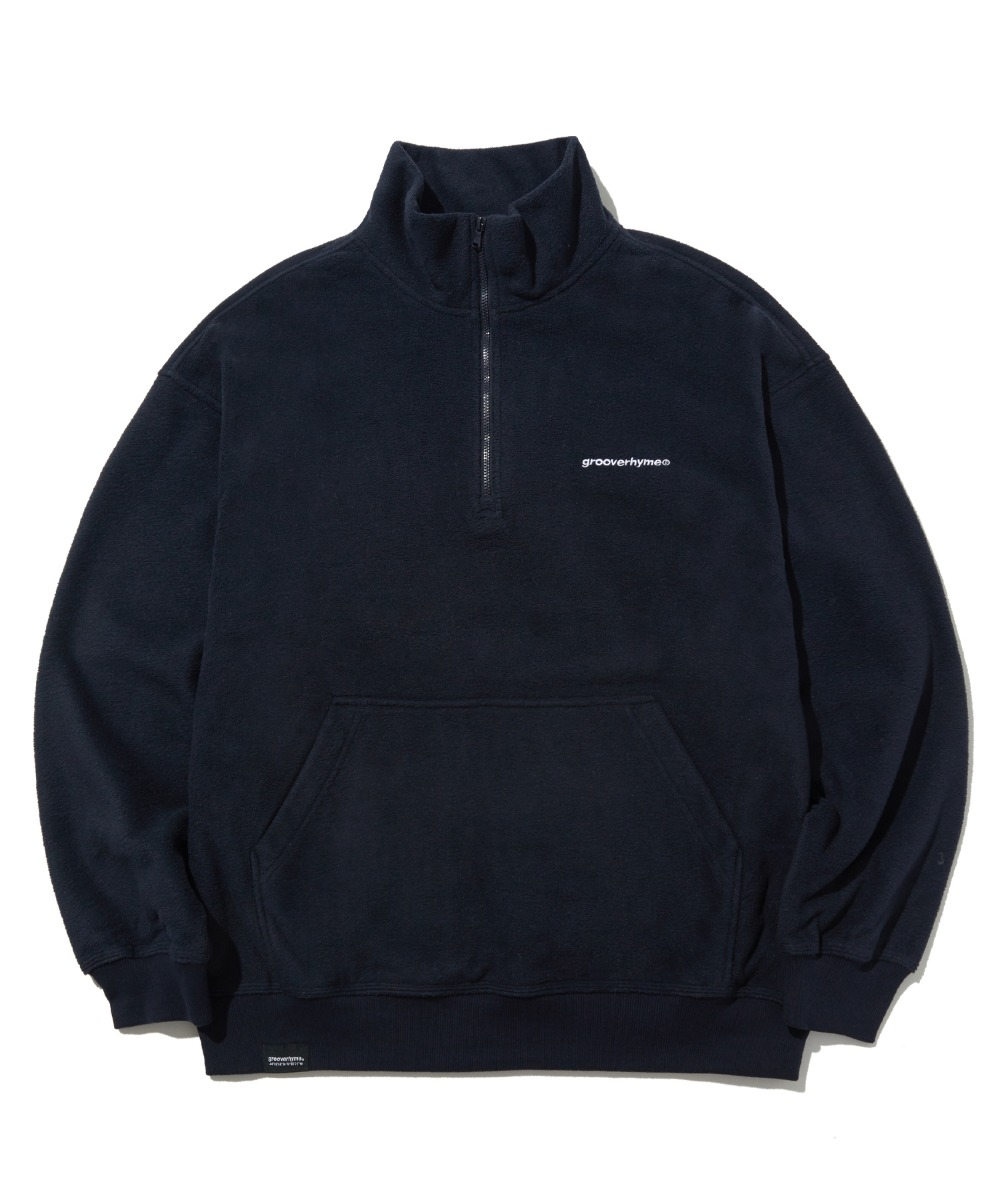 COMFORTABLE HALF ZIP-UP FLEECE (NAVY) [LROWCFN781MNAA]