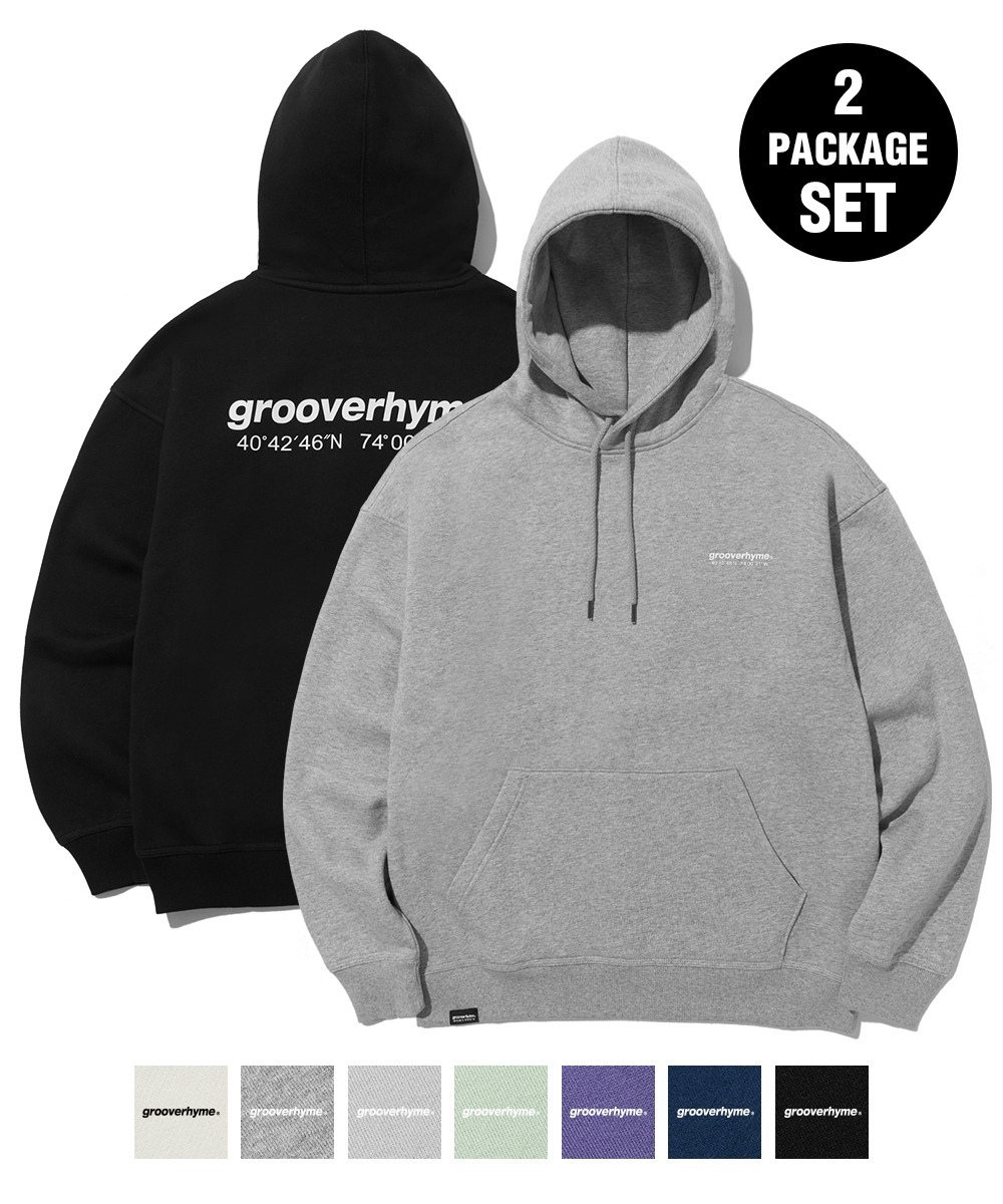 [1+1] NYC LOCATION HOODIE (7color) [LROWCTH731M]