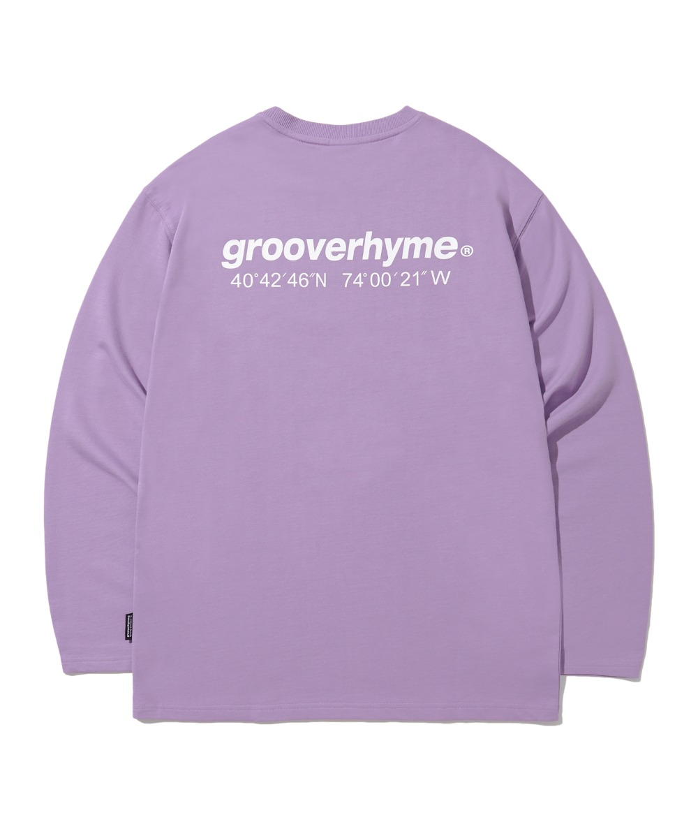 NYC LOCATION LONG SLEEVE T-SHIRTS (PURPLE) [LROFCTR721MPPA]