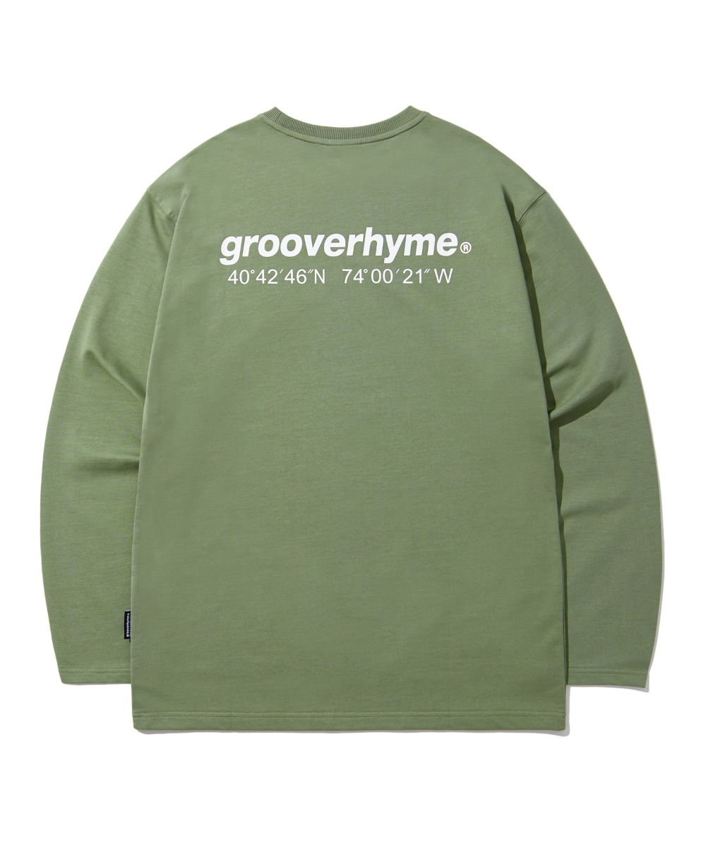 NYC LOCATION LONG SLEEVE T-SHIRTS (LIGHT KHAKI) [LROFCTR721MKHL]