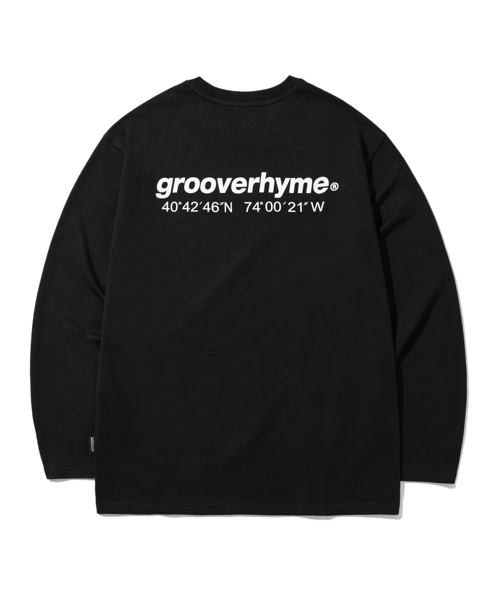 NYC LOCATION LONG SLEEVE T-SHIRTS (BLACK) [LROFCTR721MBKA]