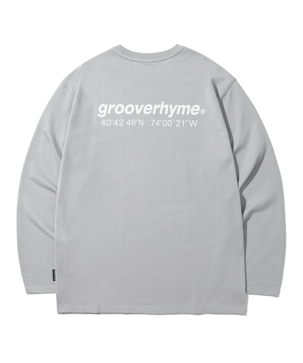 NYC LOCATION LONG SLEEVE T-SHIRTS (LIGHT GREY) [LROFCTR721MGYL]
