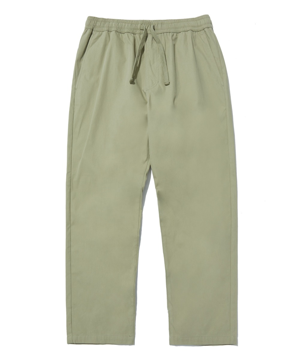 COMFORTABLE TAPERED CROP PANTS (KHAKI) [LRPSCPA712MKHA]